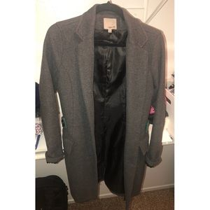 Dark Grey collar coat